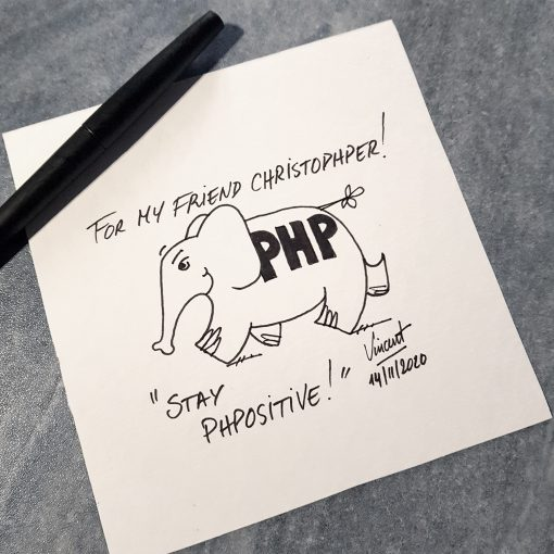 original elephpant drawing